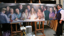 'THE LAST SUPPER' PAINTING BY NICK ST JOHN-ROSSE