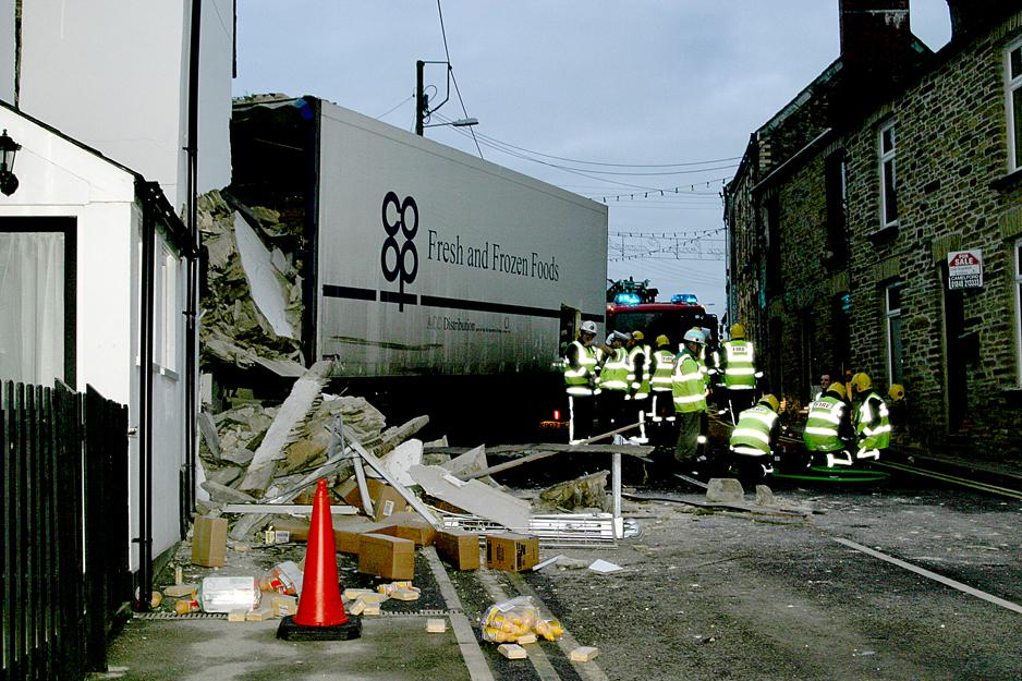 Camelford Lorry Crash