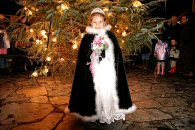 Carnival Queen Aimee Perry By The Christmas Tree