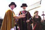 Last Year's Mayor Hands Over To Allan Sargeant, Mayor 2003