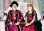 Mayor Allan & Mayoress Shirley On King Arthur's Throne