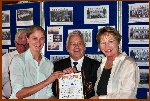 Heidi Burgess & Pam Lyons Are Presented With A Research Certificate by B.Conyon, President CCFA.