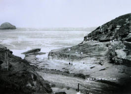 Trebarwith Strand After 1939 - 45 War